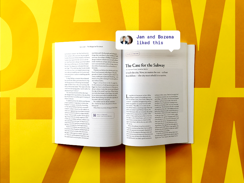 Samizdat 17 story article type social app typography magazine