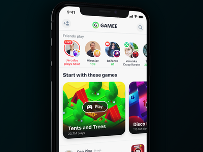 Friends play multiplayer live friends stories gaming social network app