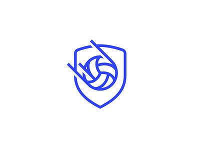Beach volleyball logo [Unused] simple shield brand sports branding identity summer burger hands ball sport logo