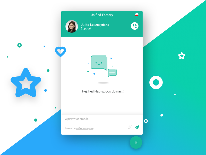 Unified Factory Messenger unified factory ui design widget ux ui messenger
