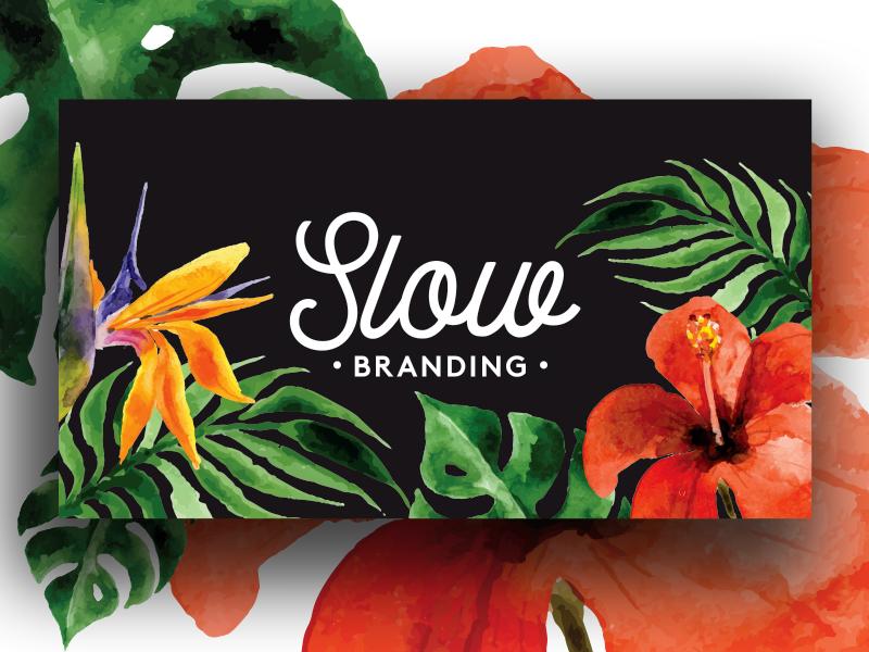 Slow Branding Logo flower exotic logotype id substance branding slow logo