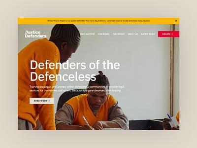 Justice  Defenders lawyer law web design nonprofit