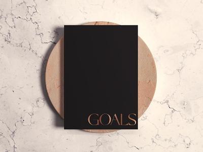 Goals Journal Cover Design stationary