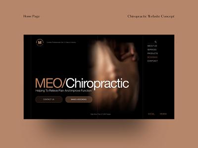 Chiropractic - Website Concept modern design website concept ui design adobe xd xd webflow design branding doctor website nz ui nz ux ui digital design website web