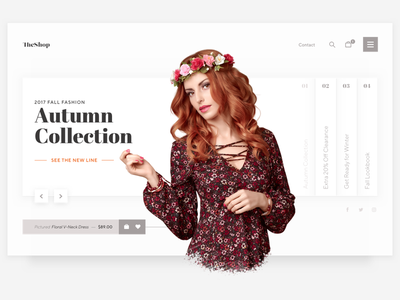 Header Slider Exploration ui minimal hero slider fashion ecommerce