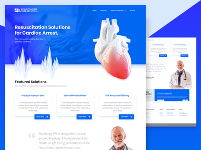 Biotech Site - Cardiac Based Startup healthcare biotechnology web design ui user interface doctor heart biotech medical