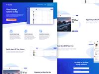 Cloud Storage App - Landing Page