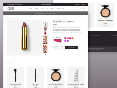 Cosmetics E-Commerce - Product Page