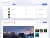 Cloud Storage Webapp - File Viewing UI