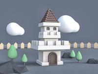 C4D - Castle