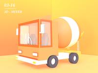 3d - cement mixer
