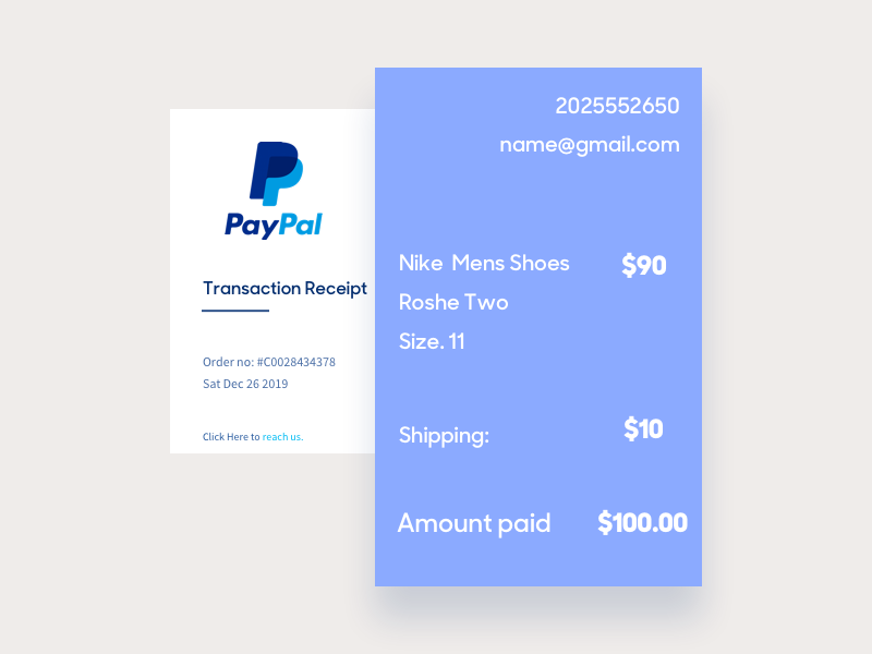 Daily UI Day 17 - Email Receipt receipt email 017 day17 ux ui dailyui