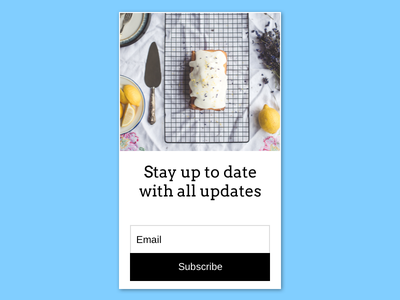 Daily UI Day 26 - Subscribe subscribe 026 day26 ux ui dailyui
