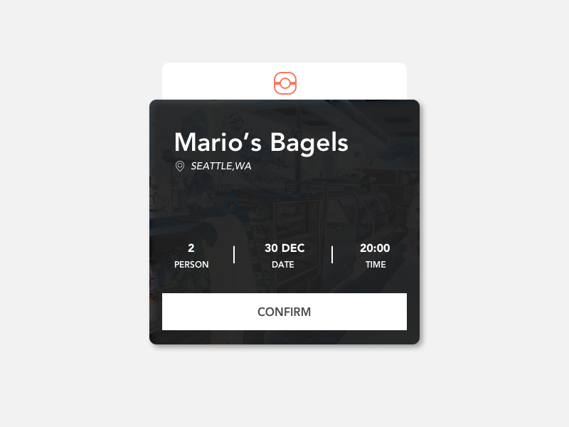 Daily UI Day 54 - Confirm Reservation reservation confirm 054 day54 ux ui dailyui