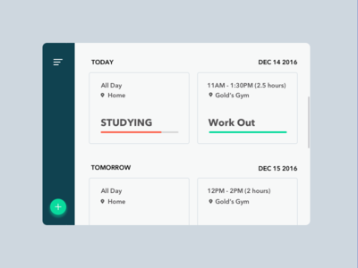 Daily UI Day 71 - Schedule