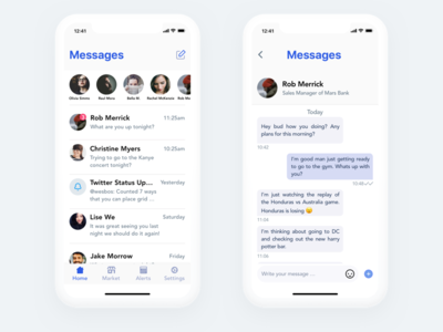 Chat App x iphone app chat concept
