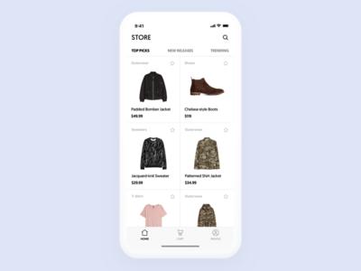 Shop App x iphone ux ui shop app ecommerce