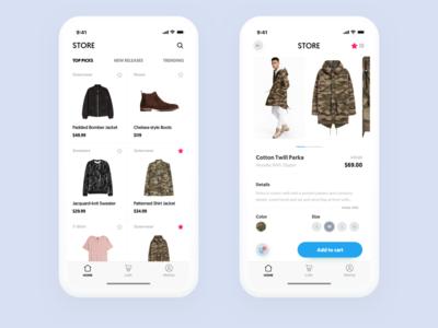 Shop App ecommence shop ux ui iphonex