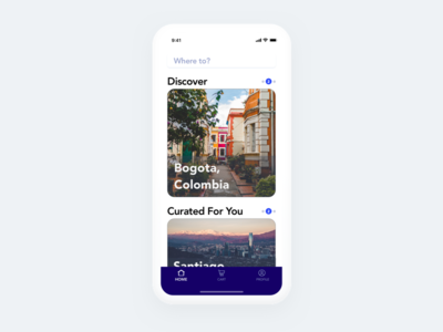 Flight Booking App - Home Page two take concept x iphone mobile ui app booking flight