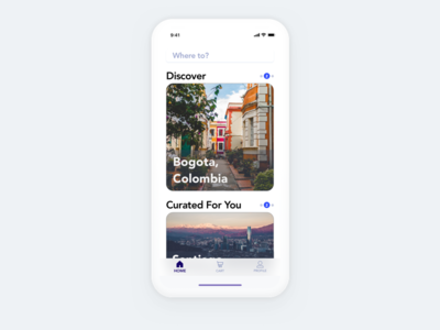 Flight Booking App - Home Page four take concept x iphone mobile ui app booking flight