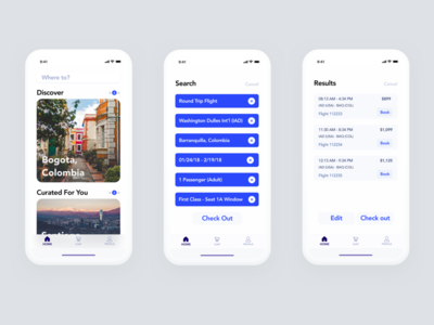 Flight Booking App ui ux x iphone app booking flight concept