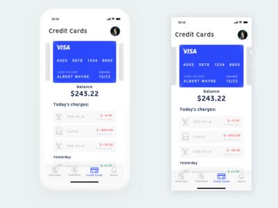Bank App - Credit Card Screen project personal x iphone ux ui screen card credit app bank