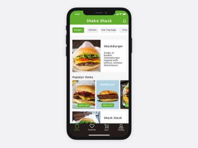 Food App concept iphonex ux ui app food