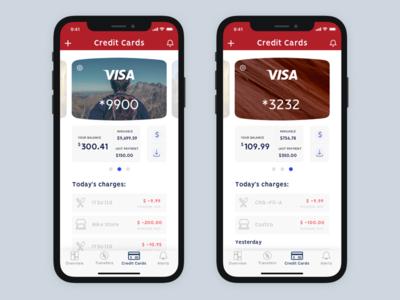 Bank App - Credit Card Screen revision project personal x iphone ux ui screen card credit app bank