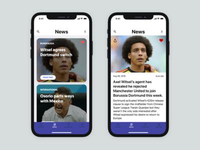 Sports New App ui ux x iphone ios app new