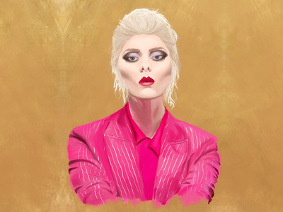 Portrait of Taylor Momsen digital oil art digital design digital art digital digital portrait digital painting rock and roll wacom tablet oil painting the pretty reckless taylor momsen painting illustration