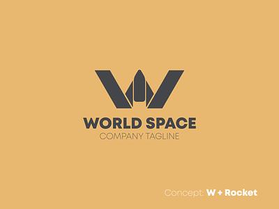 W & Rocket Minimalist Logo Design w letter brand logo rocket logo space rokcet letter logo design letter mark letter brand identity brand branding minimalist logo creative logodesign logo