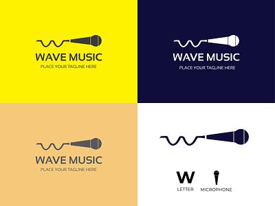 Music Minimalist Logo Design modern logo dj studio songlover singer microphone letter music brand identity logo designer lettermark logo maker letter logo creative logo minimalist logo logo design