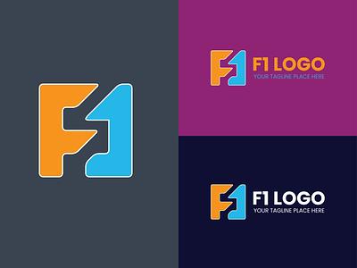 F1 logo design brand logos creative letter letter logo fashion modern logo brand design graphic design logo creative logo minimalist logo brand logo branding logo maker logo design