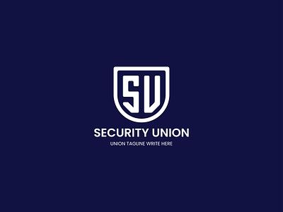Security logo design graphic designer idea logo ideas illustrator modern creative brands brand brand identity branding polygon polygonal logo letter logo letter minimal union security logo security logo logo design