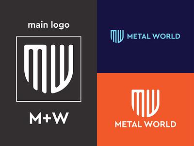 MW letter logo design logo maker corporate business iron metal monogram letter logo letter creative brand identity branding minimalist logo logos logo logo design