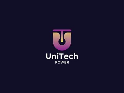 Unitech Logo Design modern power logo power letter logo design letters letter logo letter tech concept tech logo design technology minimalist tech logo tech logodesign