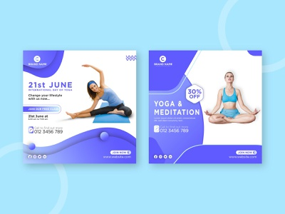 Social Media Post | Yoga post peaceful modern instructor instagram post instagram health healing girl flyer energy classes class yoga studio yoga pose international yoga day meditation social media post yoga