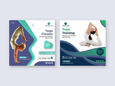 Yoga | Social Media Posts yoga day web banner yoga studio facebook post class classes health training yoga pose advertising meditation social media post instagram post yoga yoga social media post