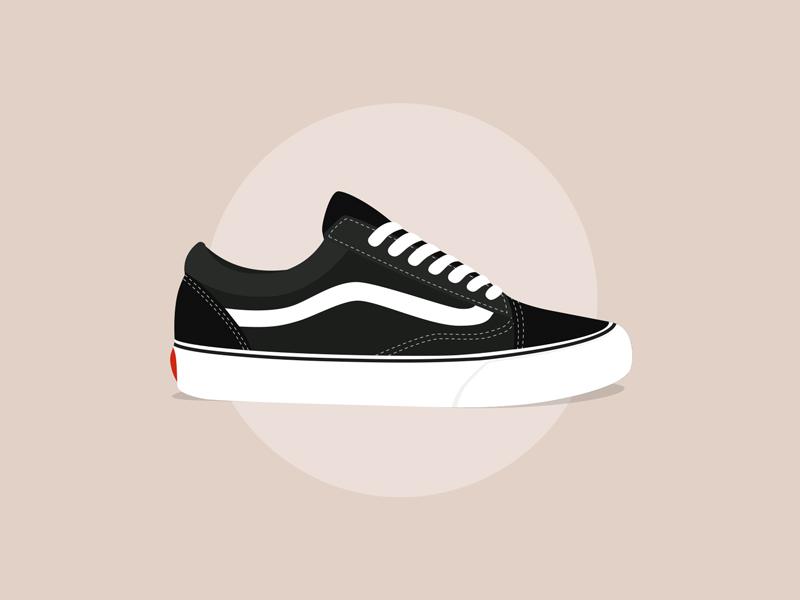 ff6146eeaf VANS Old Skool illustrator trainers footwear art vector illustration vans