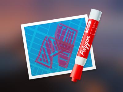 Regions Mac App Icon (Polygon)