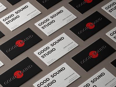 GOOD SOUND STUDIO business card product minimal photoshop illustration ux design branding logo graphic design ui