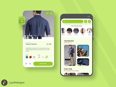 Fashion/Clothing App Design branding fashionapp ui uiux interface design app fashion clothing ux