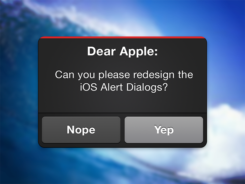 iOS Alert Dialog 2.0 ios iphone apple alert dialog redesign rebound psd freebie free