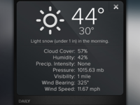Detailed Weather Modal