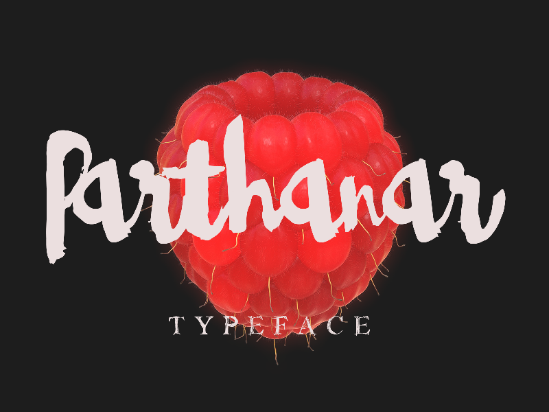 Parthanar Typeface Freebie calligraphy typeface typography fonts