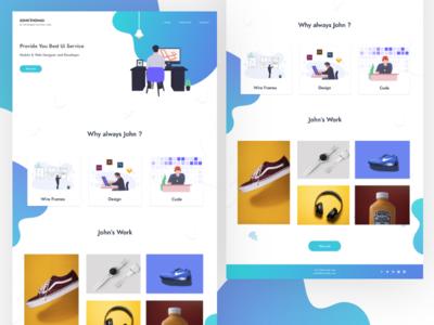 Designer & Developer Portfolio rebound undraw illustration design web developer website singlepage web design uiux uiuxdesigner adobe xd