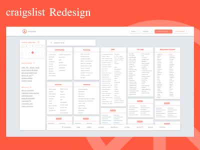 Craigslist Redesign -- Concept