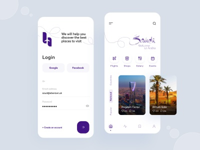 Travel App for Tourists ✈ travel agency vacation trip tourism app ux travel app design mobile app mobile app clean ui trend ui design ui mobile design minimal