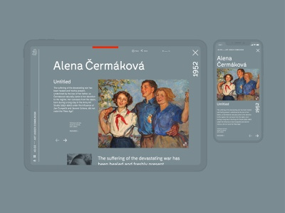 An Interactive Guide to the Czech art history website website concept webdesign web timeline sideproject minimal illustration history app history cultural creative art history art direction art