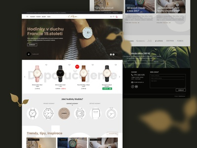 Watches eshop feminine elegant luxury gold ecommerce homepage index illustration icons web clean eshop watches webdesign website